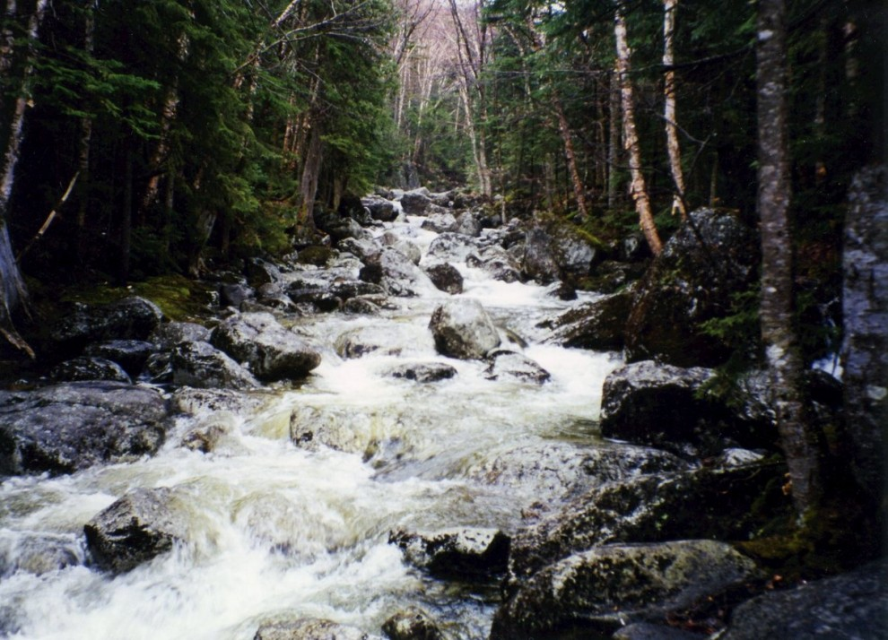 A heavy spring flow in the adirondacks