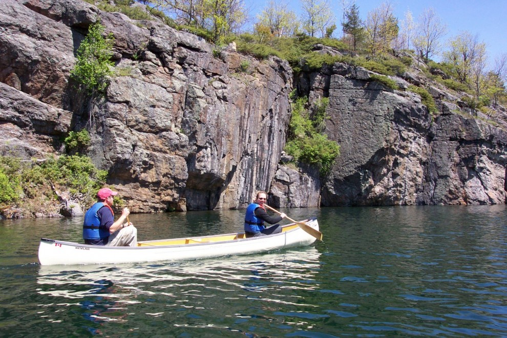 Matt and Michelle's first canoe trip together