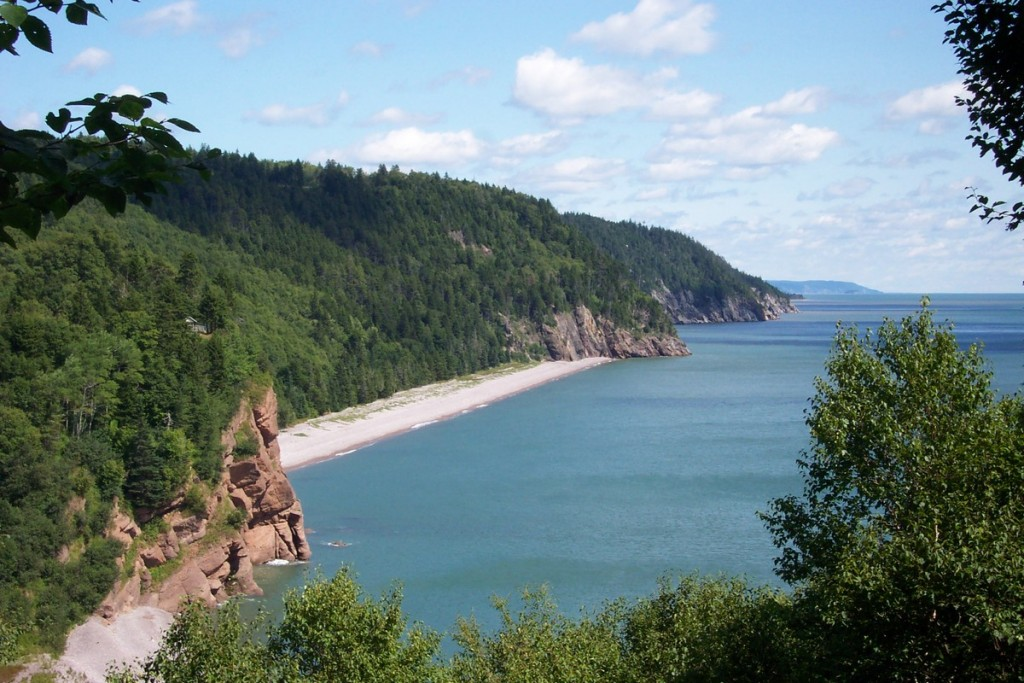 Biking along the Fundy Trail in New Brunswick
