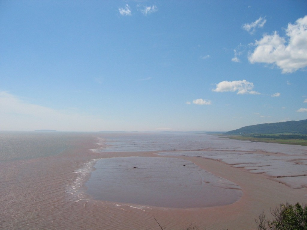 The Mud Flats during low tide in the Bay of Fundy