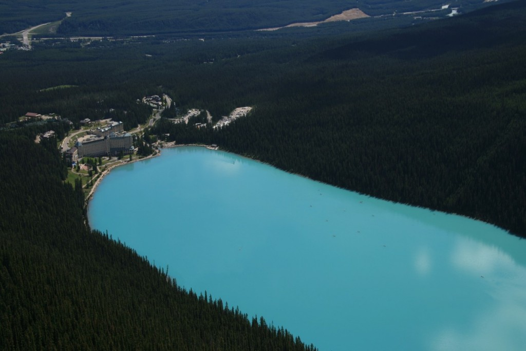 The turquoise Lake Louise in Alberta