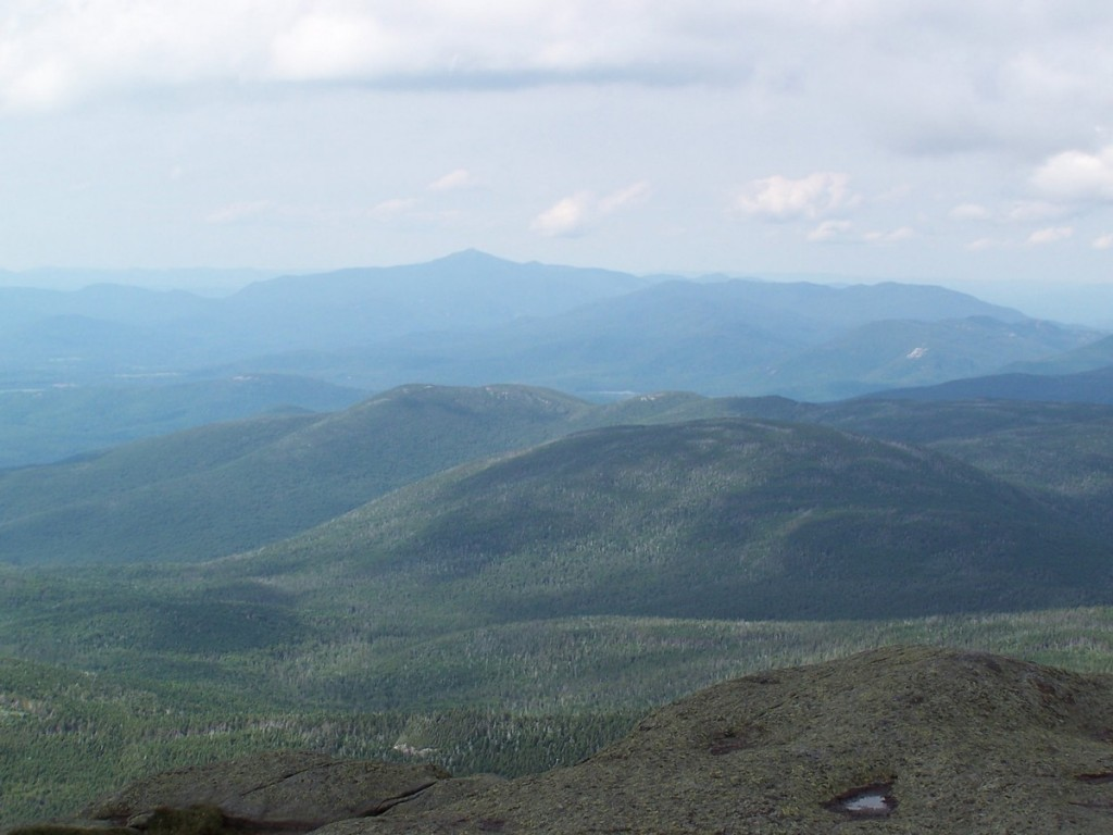 The view from atop Mount Marcy in New York State