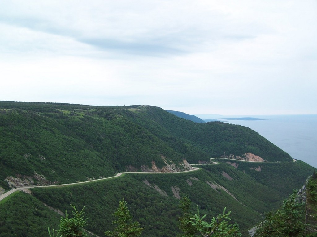 The curves of the Cabot Trail in Cape Breton