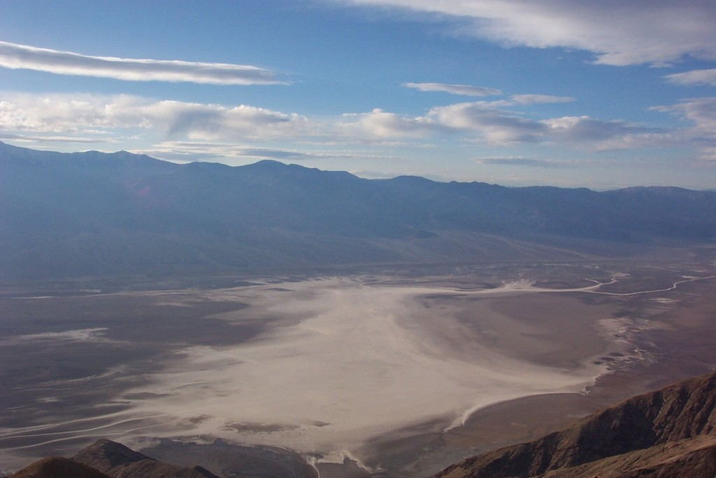 The salt flats of Death Valley in California