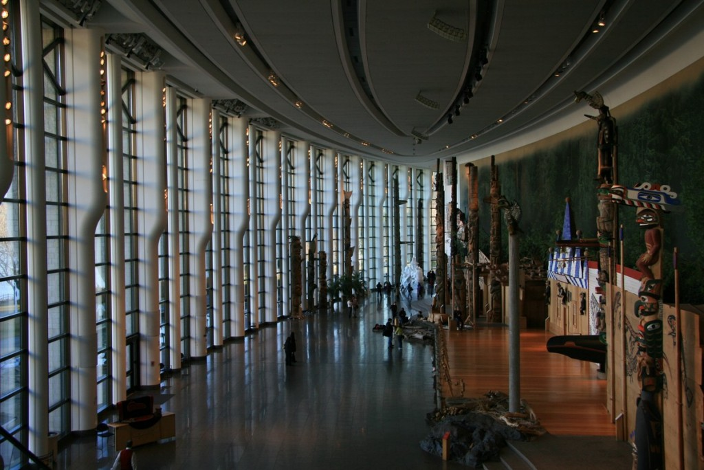 The main hall in the Museum of Civilization