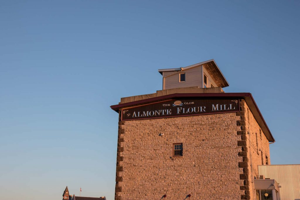 A sunset view of ye old flour mill in Almonte, Ontario