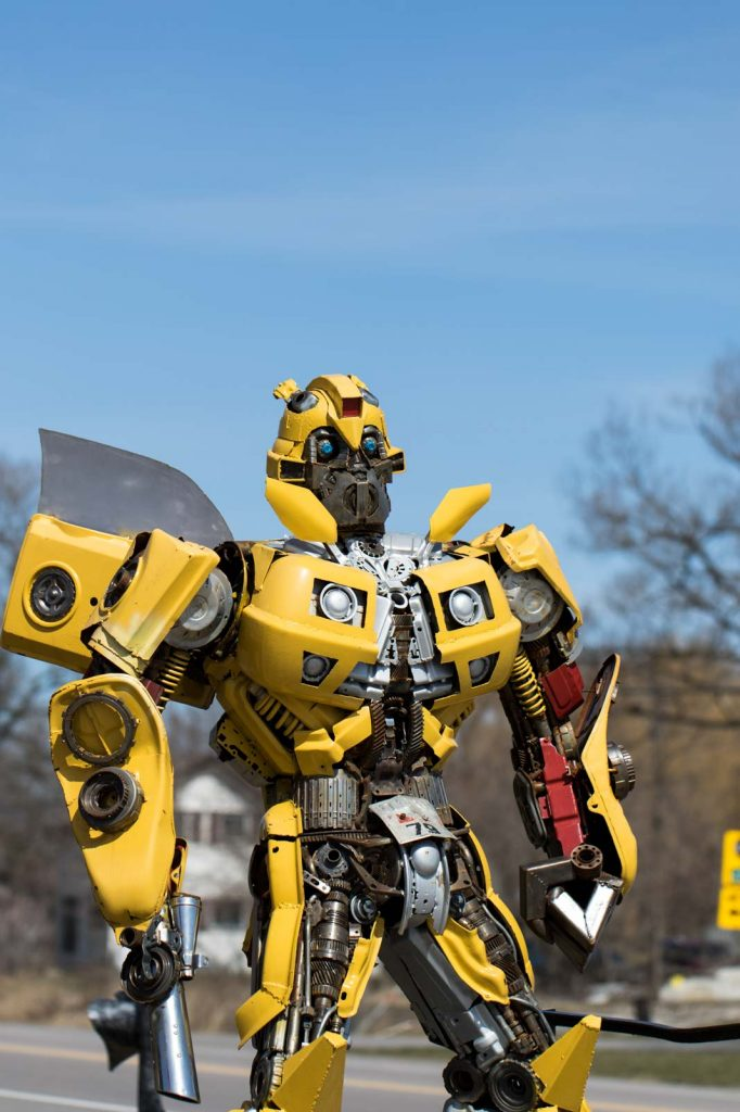 Bumblebee the Autobot on patrol at Primitive Designs