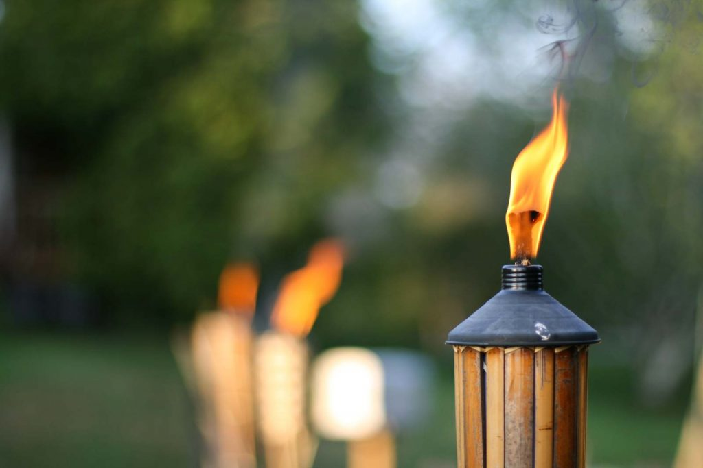 Tiki torches never get any love.  This is for you Tiki Torch