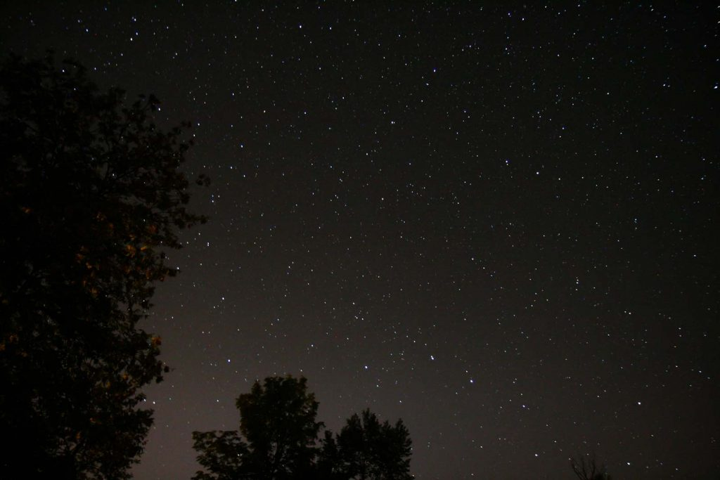 Night time stars seen from the backyard on Dawson Point