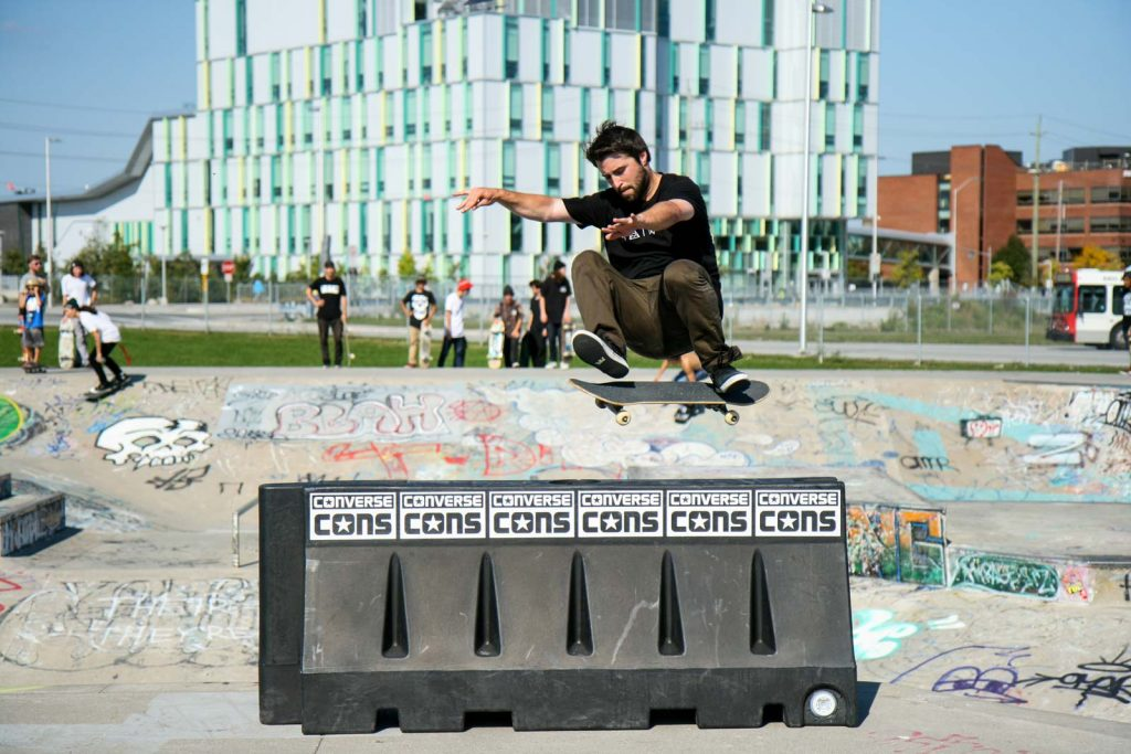 Checking out the local talent at the skatepark near Algonquin College