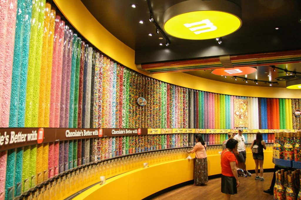 No shortage of M&M's at the store in Las Vegas