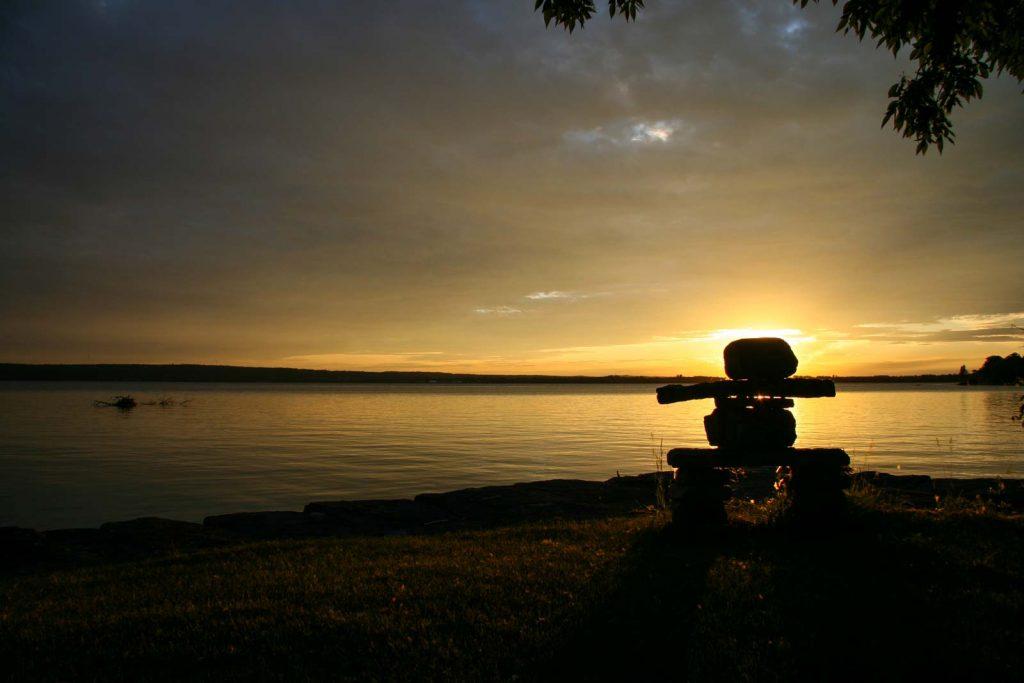 Inukshuk + sunset = unforgettable views